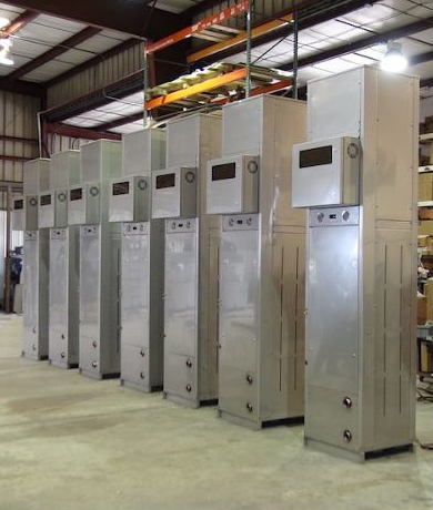 Air-cooled Chiller, 3 to 200 tons used for Oil Drilling Rigs, Hydraulic Fracking Applications