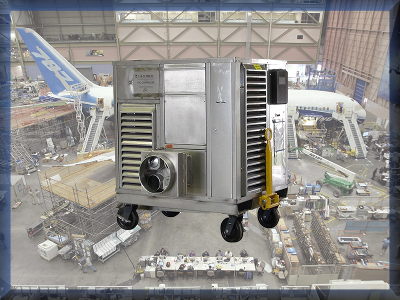 Confined Space Portable Ventilation, Cooling, Heating Cart manufactured for The Boeing Company